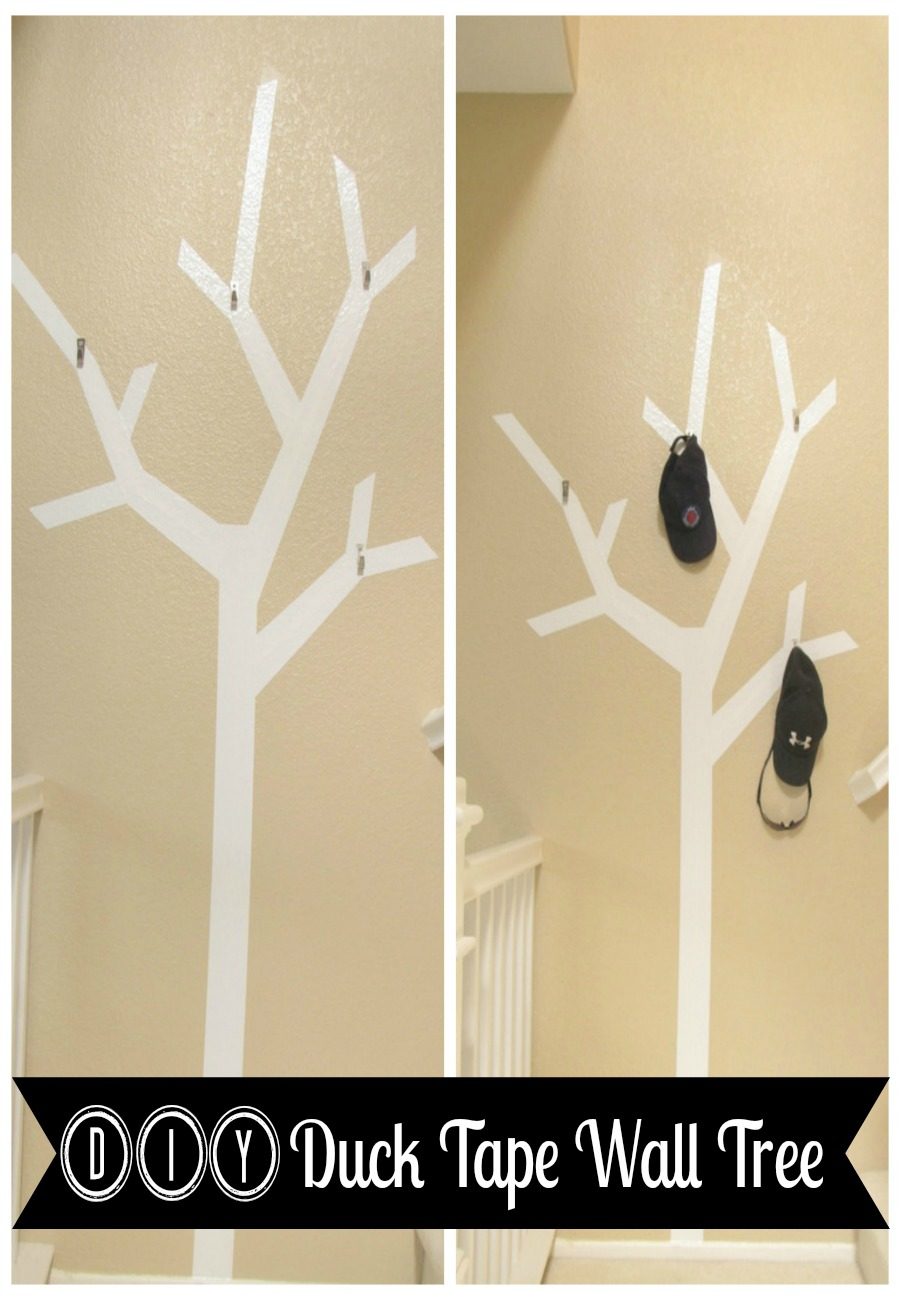 DIY Duck Tape Wall Tree