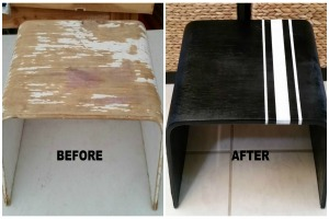 Resized Before and After Ikea Stool