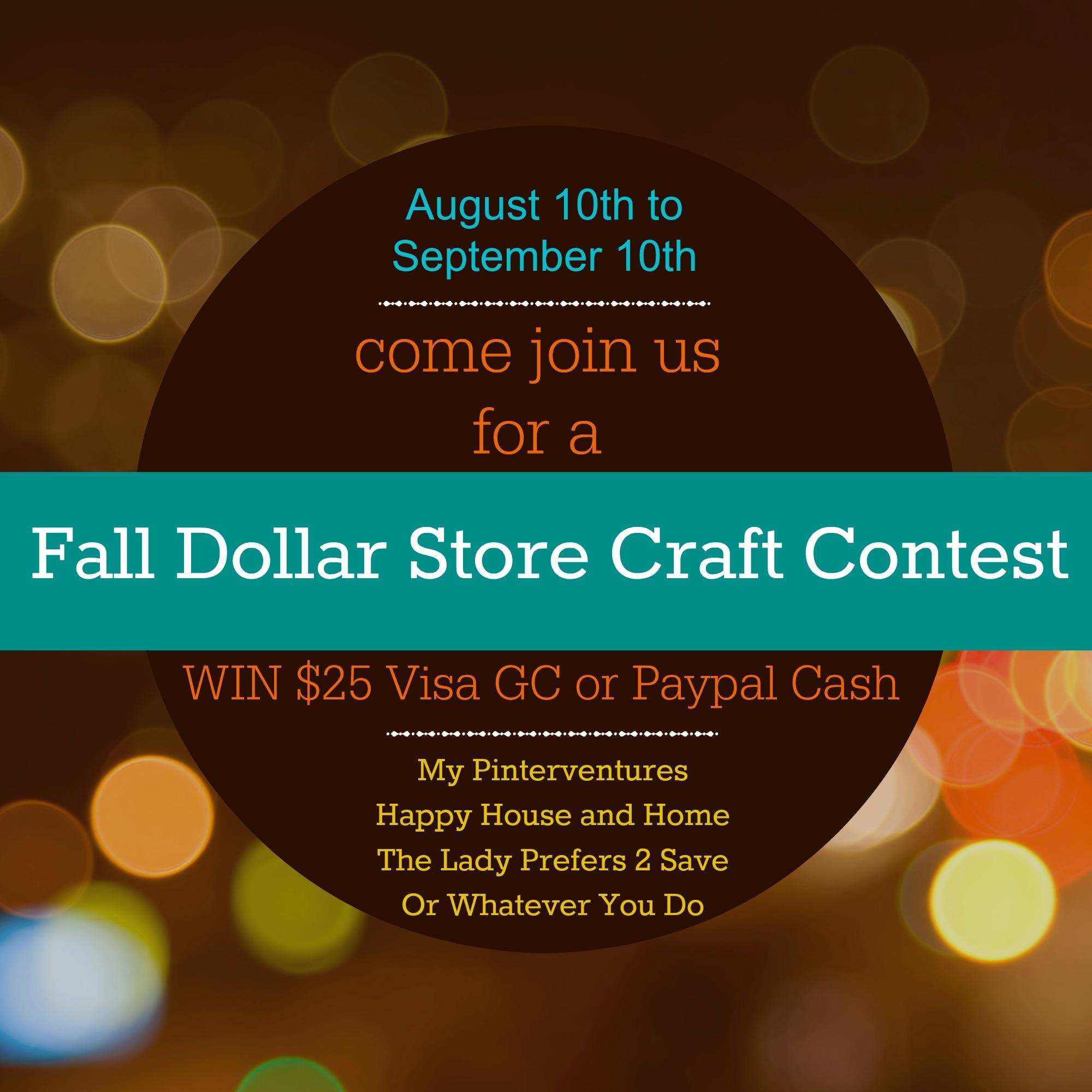 Fall Dollar Store Craft Contest
