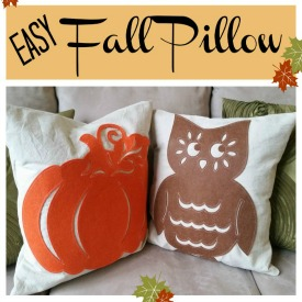 Easy Fall Pillow