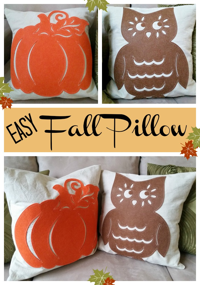 easy fall pillow - my pinterventures Diy Fall Throw Pillows