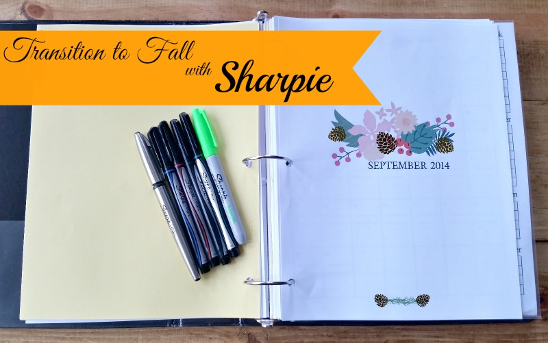 Transition into Fall with Sharpie Pens – Organizing a Blog Planner