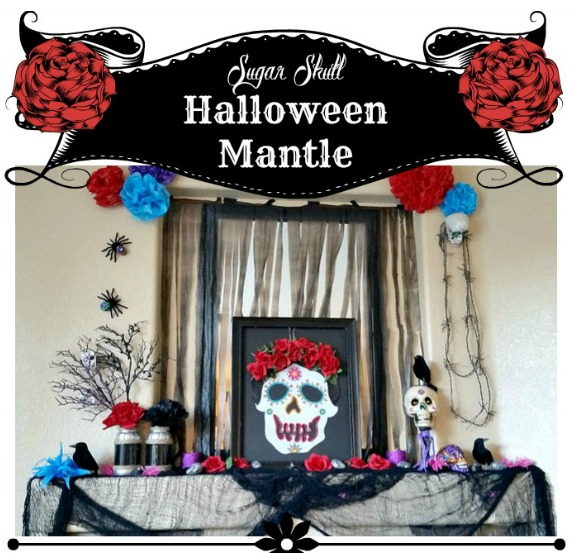 Sugar Skull Halloween Mantle