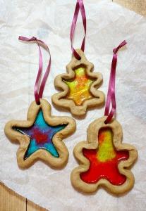 Gingerbread Glass Cookies