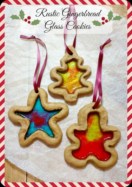 Rustic Gingerbread Glass Cookies