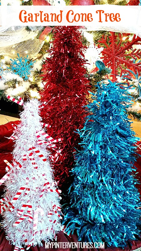 Easy Garland Cone Trees
