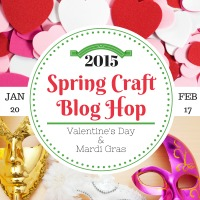 Spring Craft Blog Hop – Valentine's Day, President's Day, and Mardi Gras