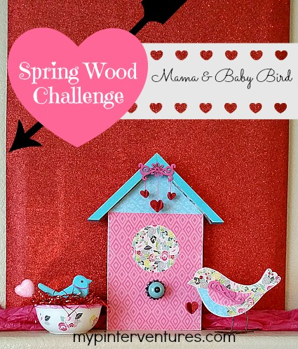 Spring Wood Mama and Baby Bird