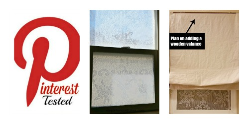 Pinterest Tested #14 – Lace Window Privacy & DIY Roman Shade