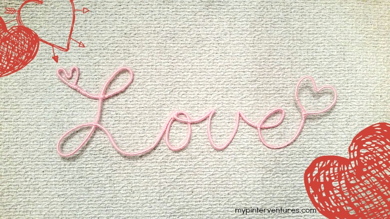 Yarn Wrapped Wire Word Art