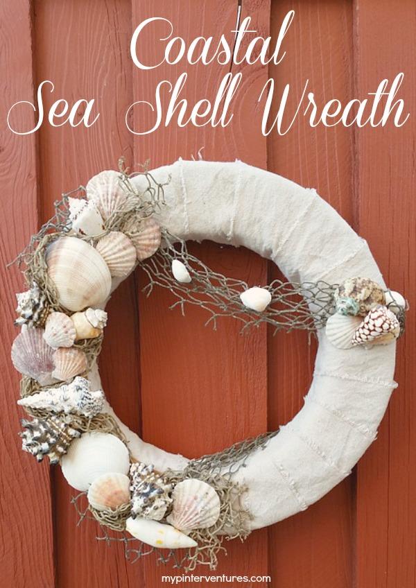 Coastal Sea Shell Wreath