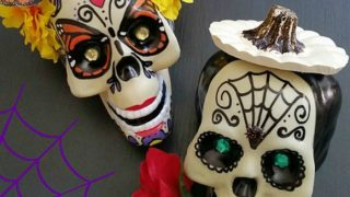 Halloween Sugar Skull Couple