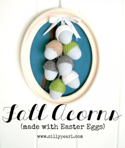 Fall Acorns (made with Easter eggs)