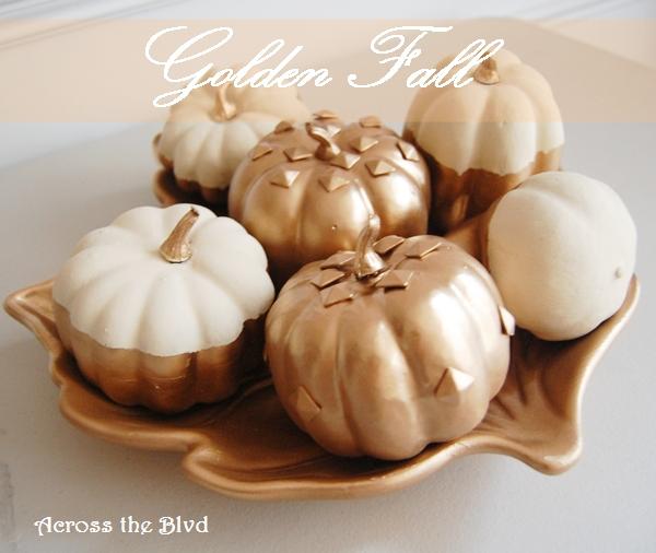 Golden Fall Pumpkin