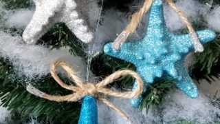Coastal Glitter Starfish Ornaments