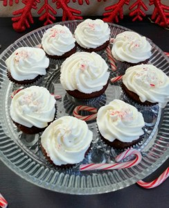 Chocolate Cupcakes with Whipped Peppermint Frosting