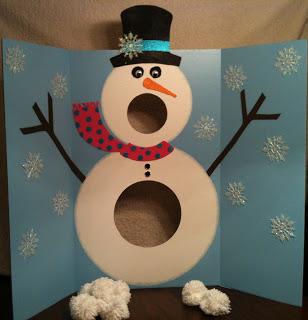 Pom Pom Snowman Game