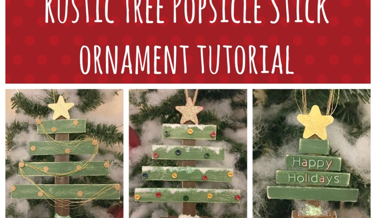 Rustic Tree Popsicle Stick Ornament Tutorial