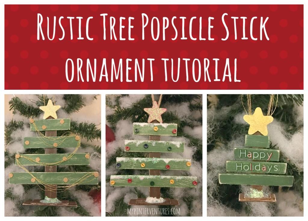 Rustic Tree Popsicle Stick Tutorial