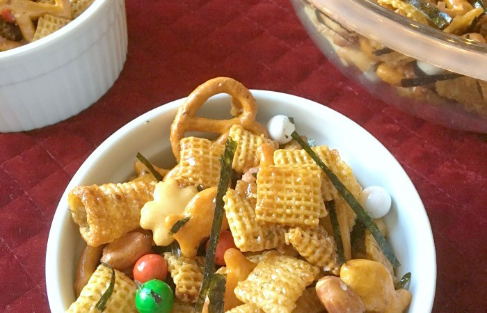 Sweet Asian Holiday Chex Mix Snack