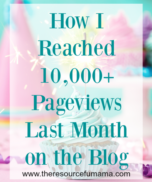 How I Reached 10,000+ Pageviews Last Month on the Blog