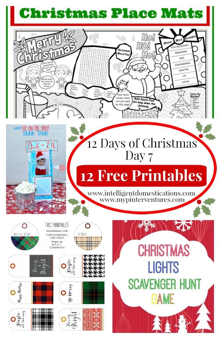 12 days of christmas free christmas printable. Black Bedroom Furniture Sets. Home Design Ideas