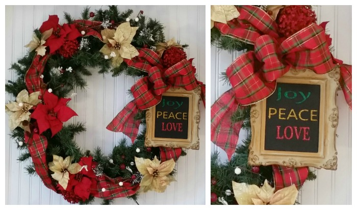Christmas Glitter Word Wall Art