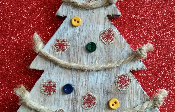 DIY Rustic Christmas Tree Ornament Tutorial