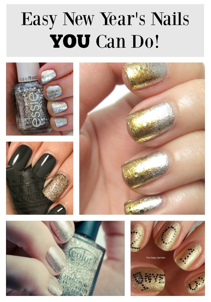 Easy New Year's Nails YOU Can Do!