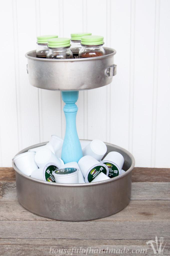 DIY Rustic K-cup Holder