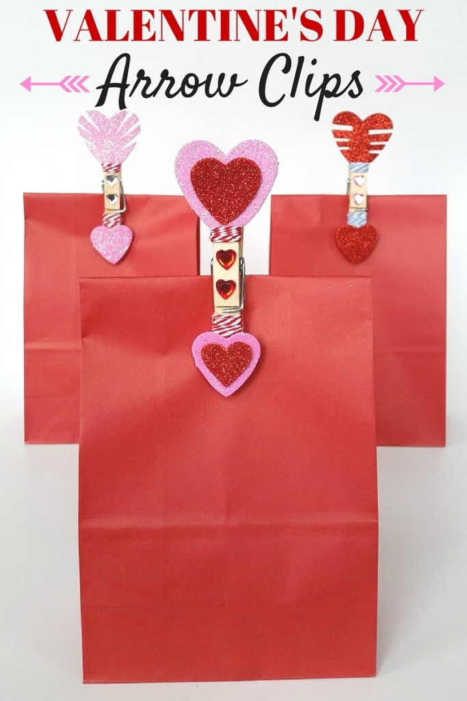 Valentine's Day Blog Hop - arrow clips gift bags