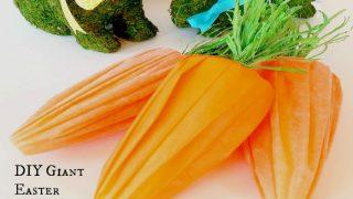 DIY Giant Easter Carrots - Dollar Store Easter Craft Blog Hop
