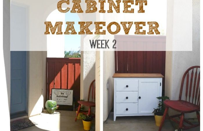 Front Door Entry Update - Cabinet Makeover