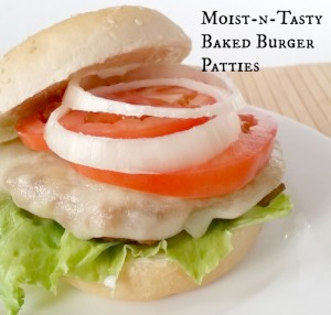 Moist-n-Tasty Baked Burger Patties