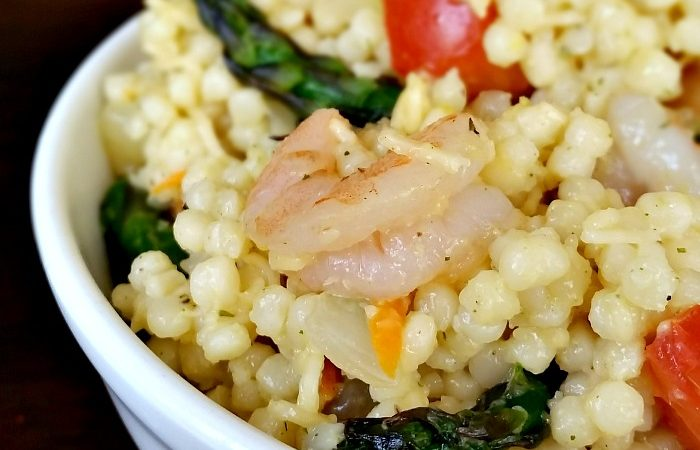 Shrimp & Asparagus with Garlic & Parsley Pearl Couscous