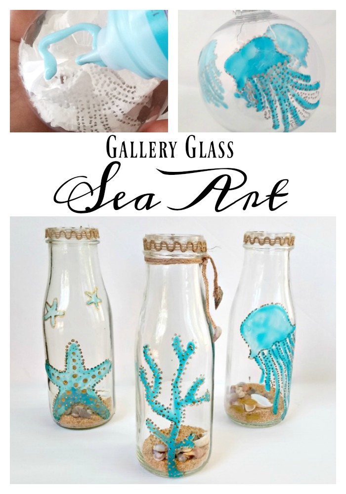 Gallery Glass Sea Art Tutorial - Coastal Crafts with Paint