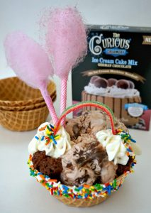 German Chocolate Fantasy Ice Cream Cup