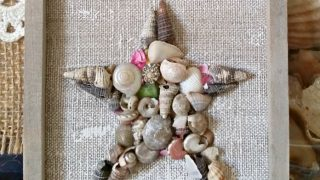 Mini Coastal Seashell Star Wall Art + Ornament Tutorial