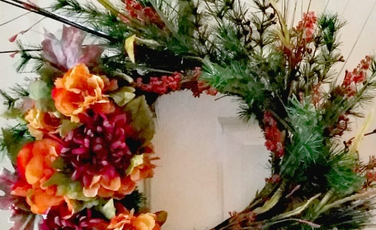 Simple DIY Fall Floral Wreath
