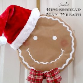How to Make a Simple Santa Gingerbread Man Wreath