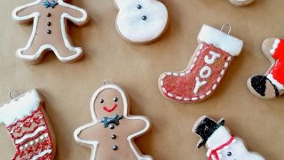Baking Soda Dough Gingerbread Ornaments
