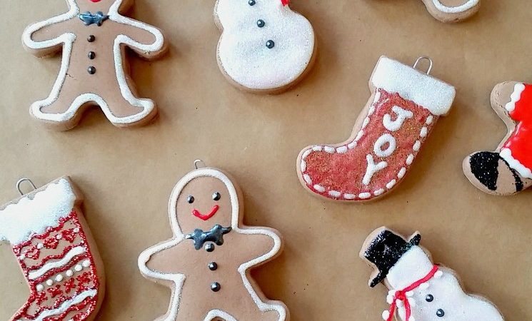 Baking Soda Dough Gingerbread Ornaments
