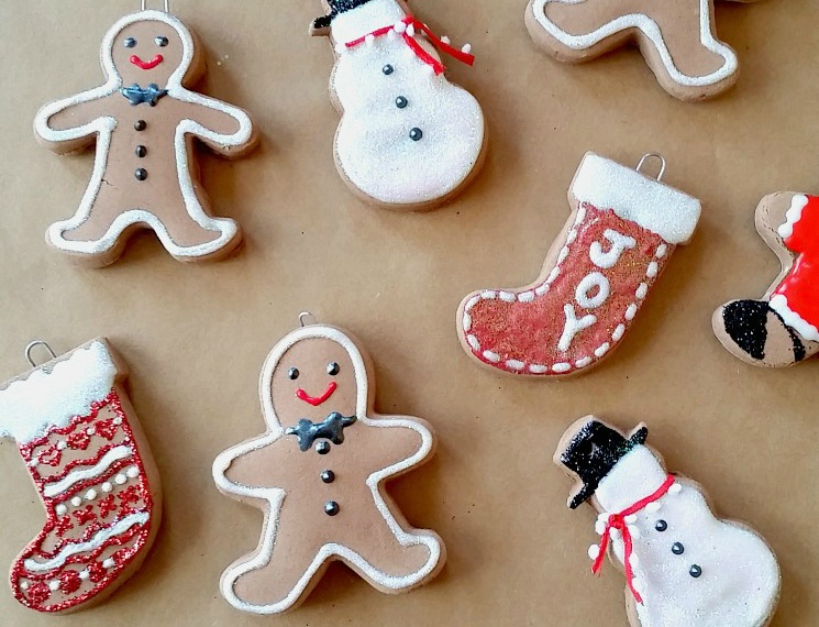 Baking Soda Gingerbread Ornaments