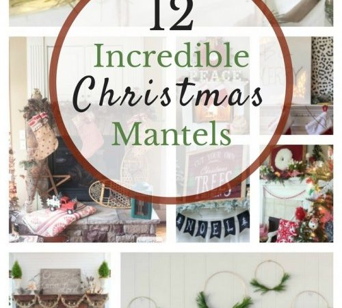 Amazing Christmas Mantels