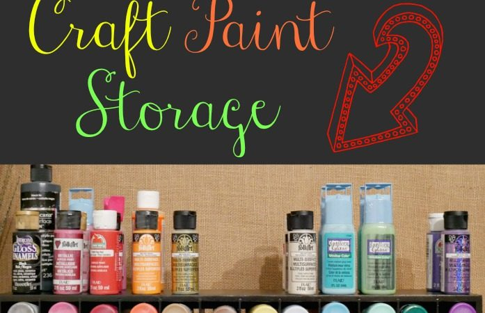 Thrifty craft paint storage