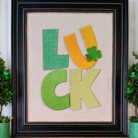 DIY St. Patrick's Day Word Art – Craft Destash Challenge