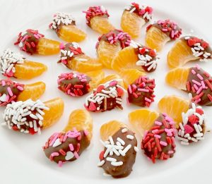 Chocolate Dipped Mandarin Orange Slices