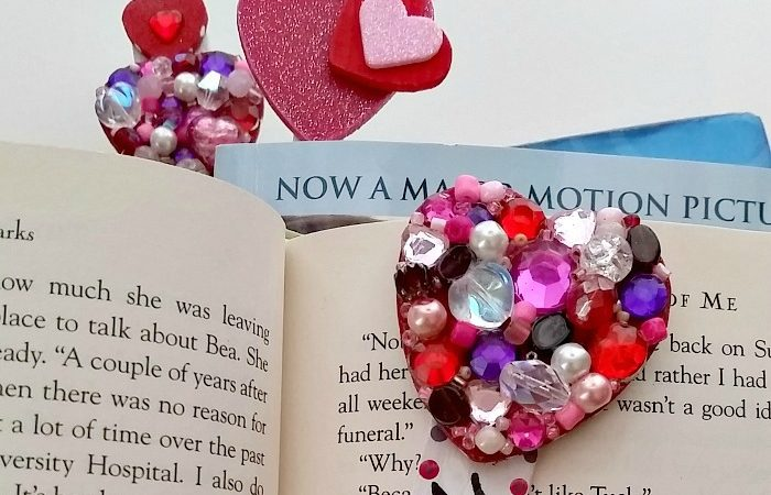 Wood heart popsicle bookmarks