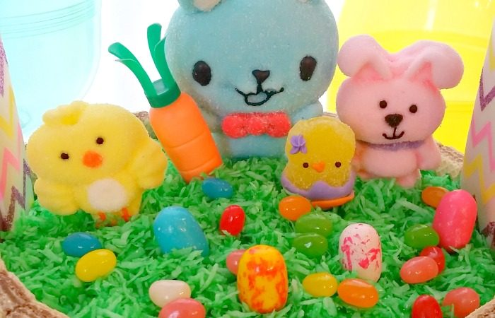 Bunny and Friends Easter Basket Cake – An Affordable Custom Cake