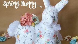 Floral Decoupage Spring Bunny - March Craft De-stash